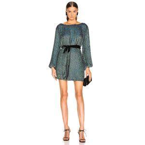 retrofete Grace Keyhole Paillette Sequin Tie Dress